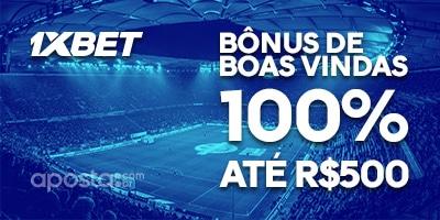Bonus de 1XBET  Boas Vindas 100% ate R$500