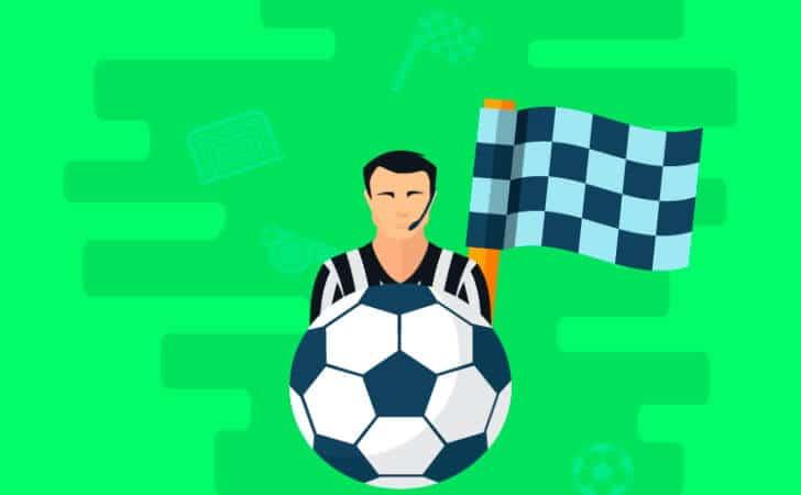 Bola-de-futebol-e-bandeirinha-de-árbitro